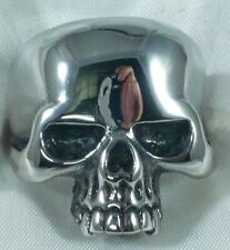 ANELLO TESCHIO IN ARGENTO 925 SKULL RING SOLID STERLING SILVER