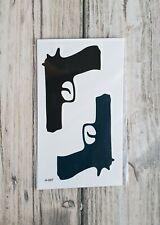 *UK SELLER* Gun Waterproof TEMPORARY TATTOO Body Art /-a11-/