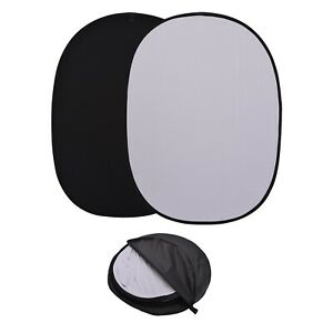 Black/White 2 in1 Background Panel Popup Backdrop Reversibles Collapsible Screen