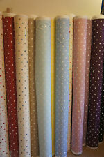 Clarke and Clarke Dotty Curtain Upholstery 1 Metre x 137cm Designer Fabric