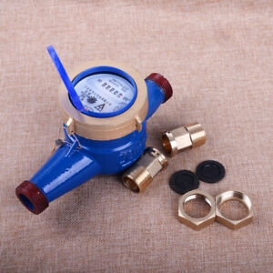 "3/4"" BSP 20mm Heavy Duty Brass Flow Measure Tape Cold Water Meter"