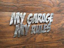 My Garage My Rules Metal Wall Art Decor Man Cave hot rat rod