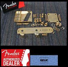 FENDER USA Tele Vintage Relic Gold Hardware Set w/ Wilkinson Compensated Saddles