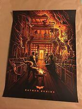 Batman Begins - Dan Mumford - silkscreen print poster edition of 75
