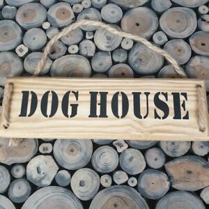 Handmade  'DOG HOUSE'' wall plaque