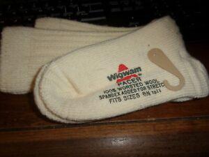 NOS~VINTAGE WIGWAM PACER 100% WORSTED WOOL SOCKS 8.5- 11