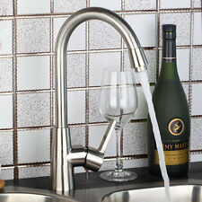 Ouboni Nickel Finish Deck Mounted Kitchen Sink Vessel Mixers Taps Bar Faucet NEW