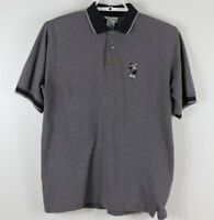 Walt Disney World Men's Mickey Mouse Gray Polo Shirt Embroidered Golf Size ?