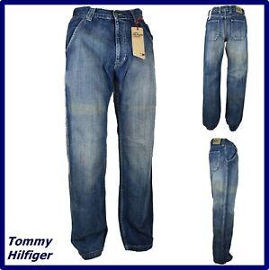 tommy hilfigerJeans da uomo larghi zampa gamba larga hip hop rap svasato W29 W30