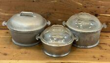 3 Vintage Guardian Service Aluminum Cookware Pot with Lids