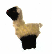 Sheep - Handmade Finger Puppet from Peru