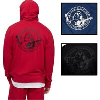 True Religion Men's Buddha Back Logo Full Zip-Up Hoodie Sweatshirt