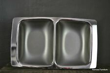 More details for retro nibbles buffet polished steel serving dish