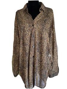 Gottex Vintage Leopard  Swim cover up  Top  L