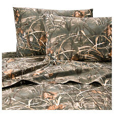 Realtree Max-4 Advantage HD Queen Sheet Set Camo 4pc Grasses Ducks Geese Hunting