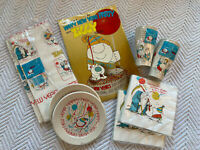 Vintage ZIGGY Paper Party Pack: Plates, Napkins Tablecover, Cups, Centerpiece