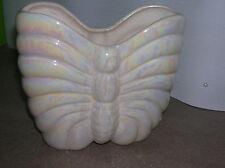 Blumenvase  Schmetterling elfenbein glitzernd 13 H 15 B 5 T Dekovase