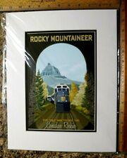 Rocky Mountaineer Print Jode Thompson New Rockies Train Retro Art 11 X 14 Tunnel