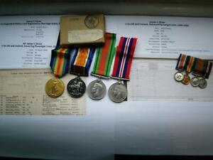 WW1 & WW2 MID medal group Flight Lt Shaw RAF & S Wales Borderers Fr London
