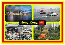 HONG KONG - SOUVENIR NOVELTY FRIDGE MAGNET - FLAGS / SIGHTS - GIFT / BRANDNEW