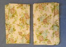 "1970's  NOS ""Superest"" All Cotton  Floral  Single Bed Sheet Set, 2 Flat."