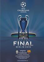 * 2015 UEFA CHAMPIONS LEAGUE FINAL - BARCELONA v JUVENTUS - OFFICIAL PROGRAMME *