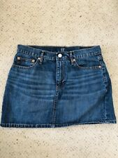GAP DENIM BLUE JEAN MINI SKIRT Size 8