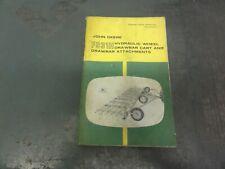 John Deere F931h Hydraulic Wheel Drawbar Cart Operators Manual Om A14634