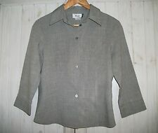 SIZE 10 WOMENS ROCKMANS DESIGN FOR WORK 3/4 SLEEVED GRAY SHIRT