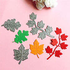3PC Maple Leaf Cutting Dies Stencil DIY Scrapbooking Embossing Album Paper Card