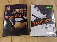 Taken 2 & Taken Extended Cut DVD (2) DVD Lot Movie