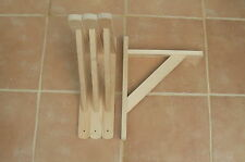 """Wooden Shelf Brackets x 4 (Ideal for 12"""" - 13"""" Shelves)."""