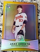 JAKE ARRIETA 2010 Bowman Platinum GOLD Refractor SP Rookie Card RC /539 Phillies