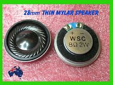 2W 8 Ohm Audio Speaker 28x6mm Round Magnet  Mylar Cone