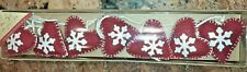 Jingles & Joy hearts & snowflakes Christmas Holiday Felt 6 Foot Garland New Box