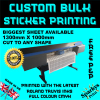 CUSTOM PRINTED VINYL LABELS STICKERS DECALS CONTOUR CUT