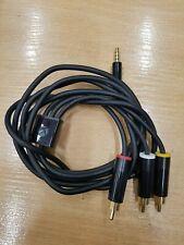 MICROSOFT XBOX 360 Slim E OFFICIAL COMPOSITE AV CABLE GENUINE CONSOLE TV LEAD