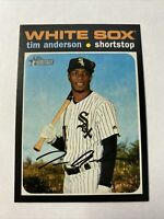 2020 Topps Heritage Tim Anderson Chicago White Sox Short Print SP Card #436