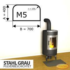 Kamin Bodenplatte Funkenschutz Kaminplatte Stahl Grau Ofen Platte Ofenblech - M5