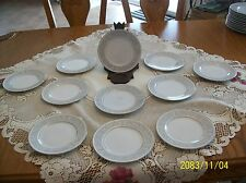"""Imperial China """"Whitney Pattern"""" Designed By W. Dalton 5671 Bread 11 Plates"""