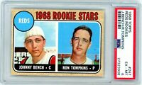 JOHNNY BENCH 1968 Topps Rookie Card RC PSA 6 EX-MT #246 Eye Appeal New Slab Reds