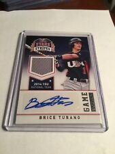 2015 USA Baseball Brice Turang 15u Auto Jersey /10   Milwaukee Brewers