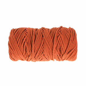 100m Natural 8 Strand Macrame Twisted Cotton Rope Cord String Craft Knitt Line