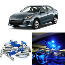 For 2010-2013 Mazda 3 Premium Blue LED Lights Interior Kit 8 Pieces