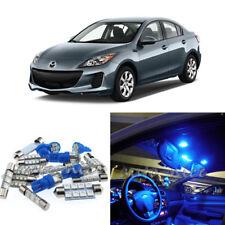 For 2010-2013 Mazda 3 Premium Blue LED Lights Interior Kit 8 Pieces