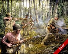 WWII RED ARROW IN NEW GUINEA PAINTING US MILITARY HISTORY ART REAL CANVAS PRINT