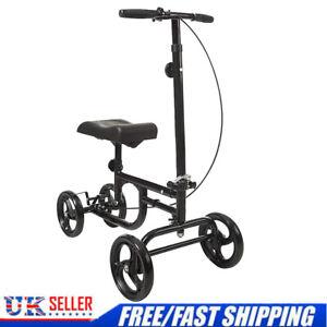 ELENKER Economy Knee Walker Steerable Medical Scooter Leg Crutch Alternative UK