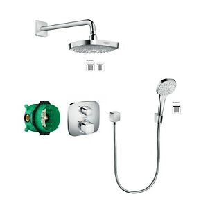Hansgrohe Square Design Shower Set Croma Select E 2 Way Shower Bundle 27294000