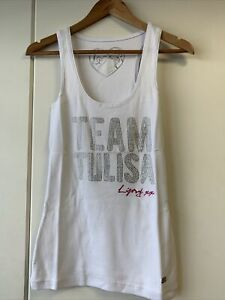 Lipsy Womens Ladies Vest Top Ribbed Clothes Team Tulisa White Size 10