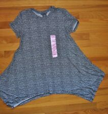 NWT Womens Chelsea & Theodore Black Short Sleeve Top Stretchy Tunic Shirt Small